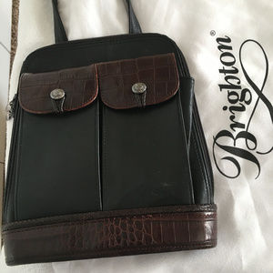 Brighton Cross Body Black / Brown Leather